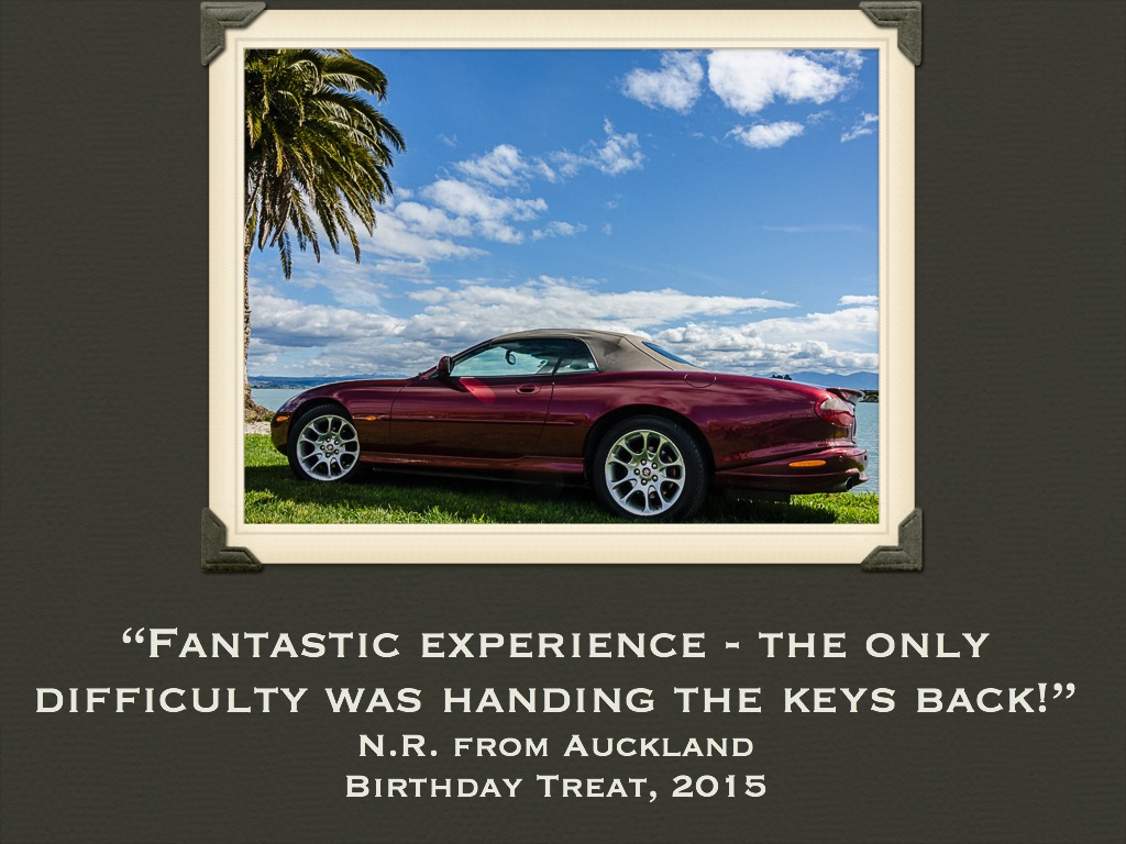 27 Jaguar Convertible Hire New Zealand